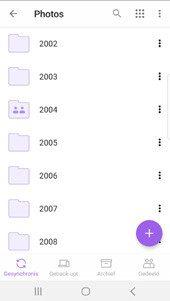 Online archief op iOS mobiel