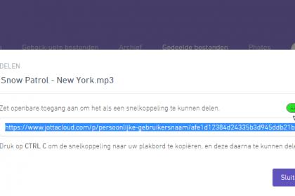 Delen stoppen via webportaal