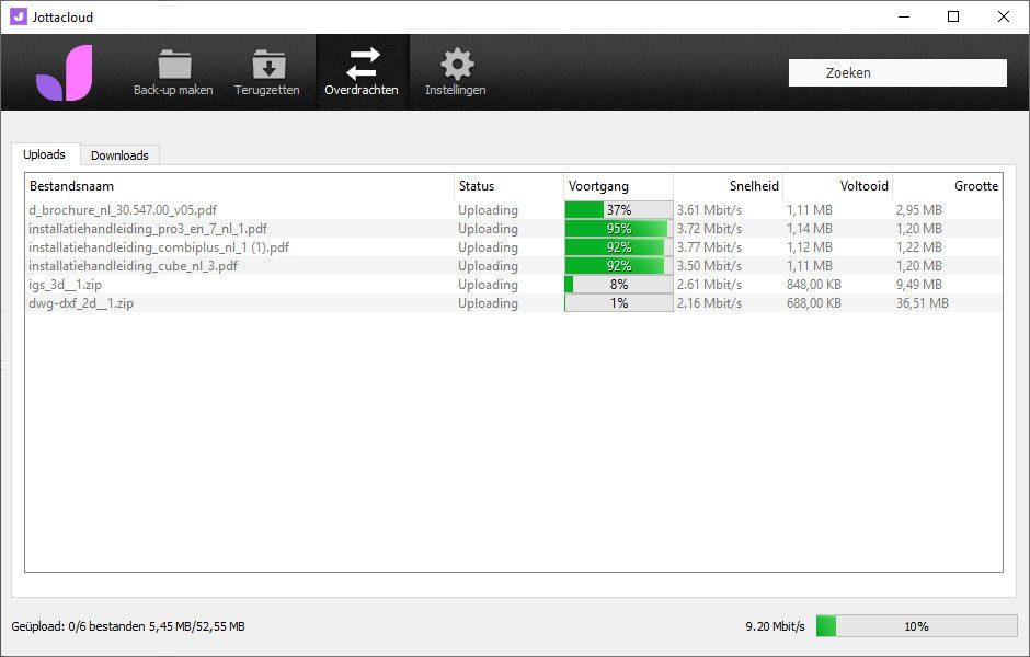 Desktop software uploadstatus