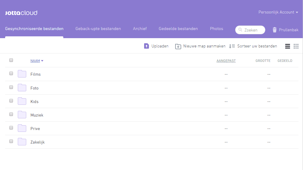 Synchronisatiemap in webportaal